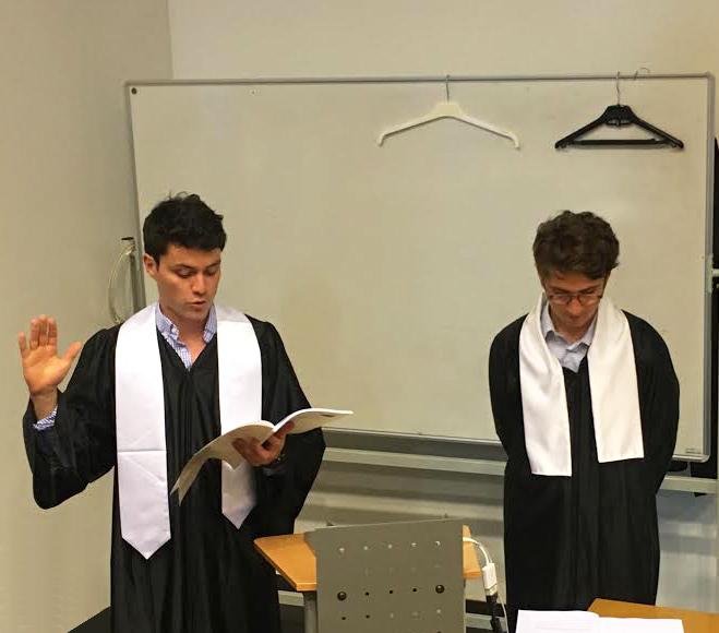 Photo de Gabriel et Paul lors de leur thèse sur Océan Dentiste
