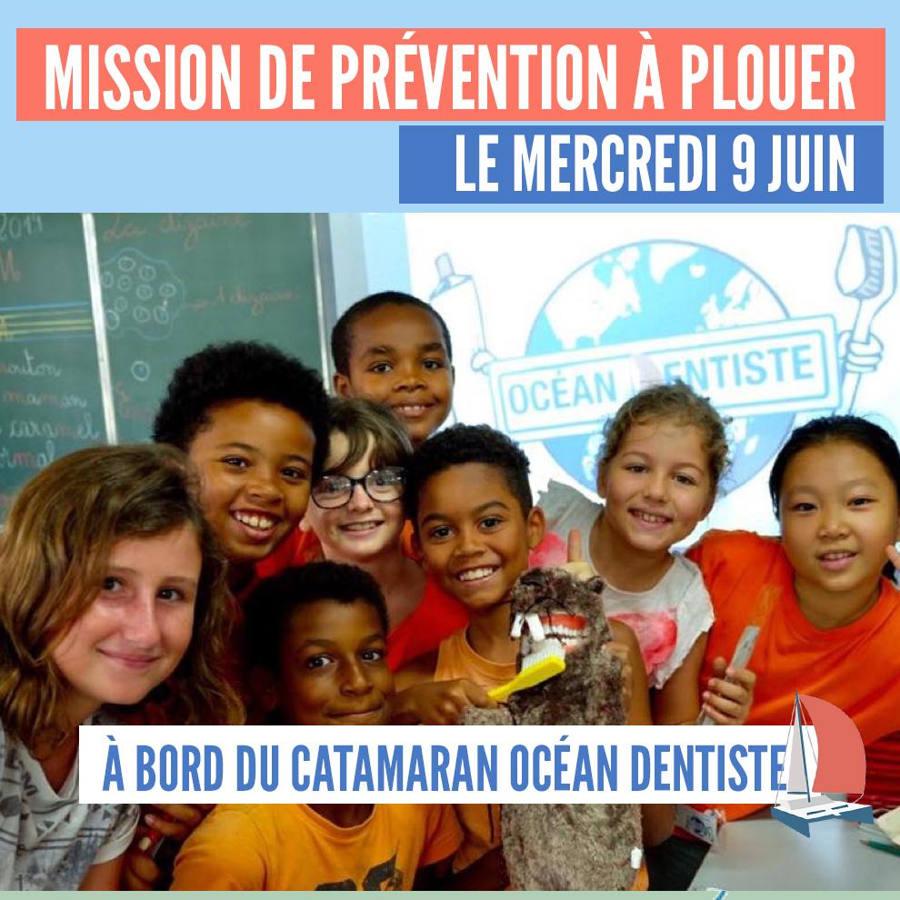 Inscriptions familles : Mission de prévention à Plouer sur Rance à bord du catamaran Océan Dentiste le mercredi 9 juin 2021