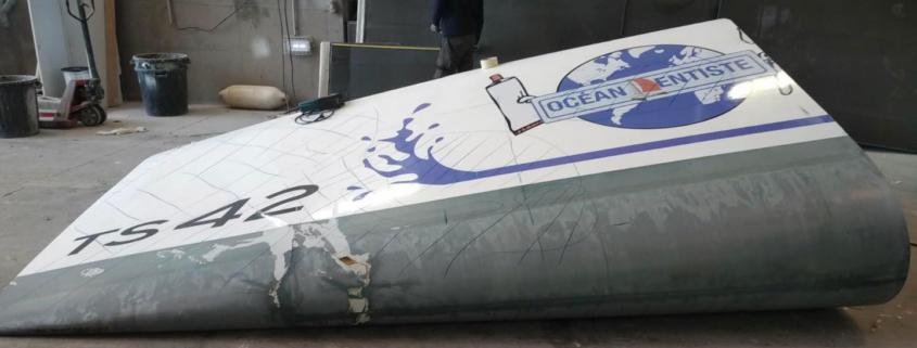 coque cassée bateau Océan Dentiste